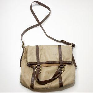 Lucky Brand large fold over crossbody tote bag